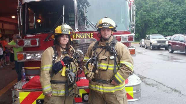 Firefighters Nicole and Tim